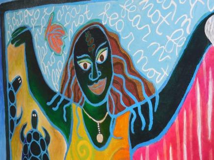 """""""Fear Not!"""" Caryl Henry, acrylic on canvas"""