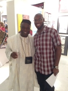 Tunde Odunlade with Chris Isong