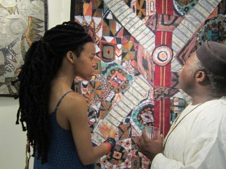 Tunde explains the Yoruba proverb on which this piece is based. Photo: Amy Staples