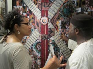 Kimlee with Tunde Odunlade. Photo: Amy Staples