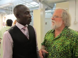 Oritsemeyiwa Abalo and Jake Homiak. Photo: Amy Staples