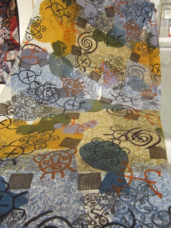 Copper Throne. Uribe silkscreen on cotton.