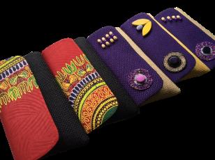 Kitenge (Tanzania) and Burlap (Kenya) clutches