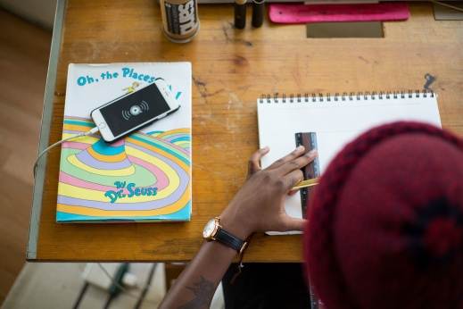 student-desk-cellphone-book